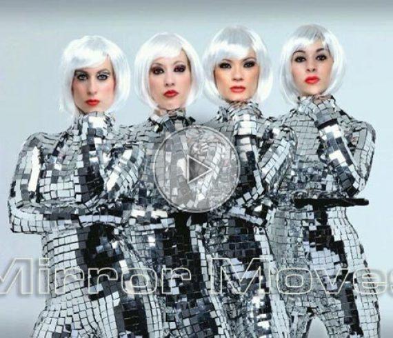 miror dancers, danseuses avec miroir, costumes en miroir