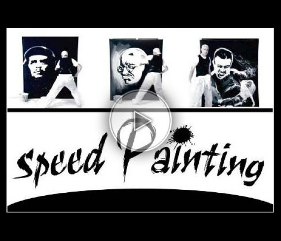 peintre performer, peinture, painting, blanc, white, noir, black