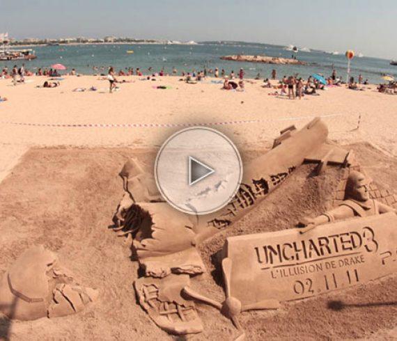 sand artist, sand performer, sand sculptor, sculpteur de sable