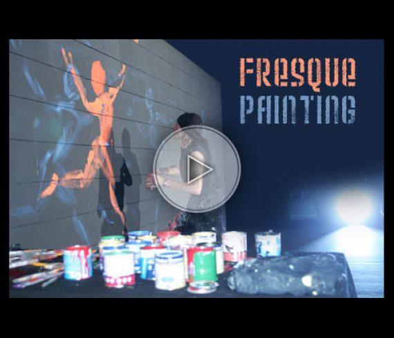 fresque painting, peinture de fresque, paint, peinture, peintre