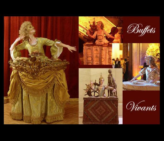 living tables, tables vivantes, baroque, versailles, louis XIV,