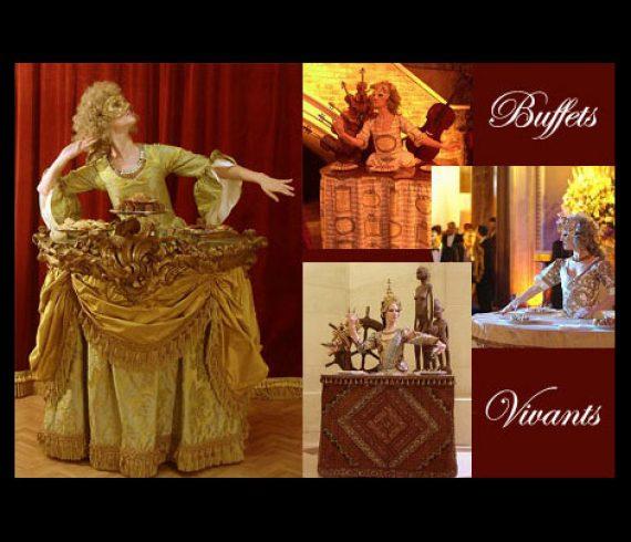 living tables, tables vivantes, baroque, versailles, louis XIV,