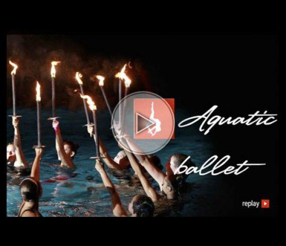 spectacle aquatique, aquatic show, aquatic ballet, ballet aquatique