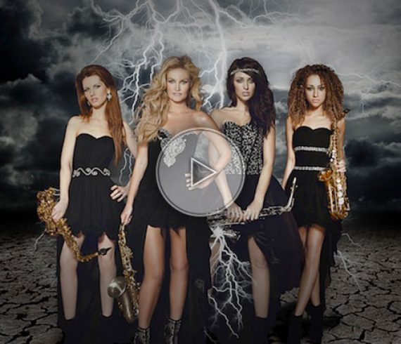 sax lady group, london, filles aux saxophone, londres, uk, angleterre, united kingdom