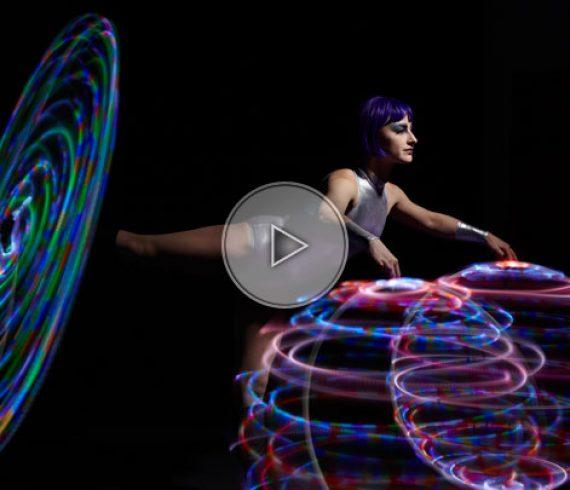 hula led, LED hula-hop, lighting hula-hop, hula-hop lumineux, hula-hop de lumière
