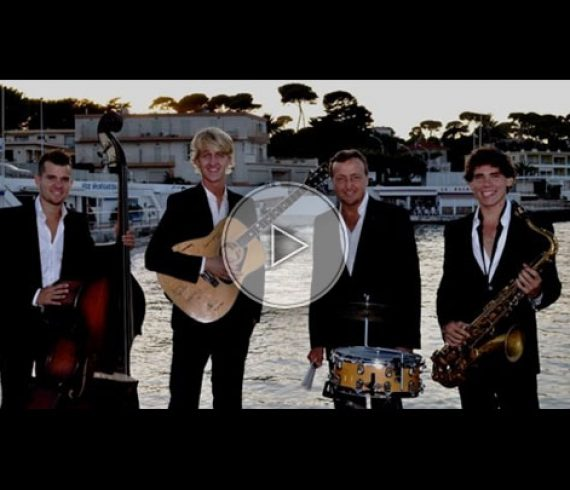 jazz band, french riviera, côte d'azur, swing band, quartet, quatuor, animation musicale