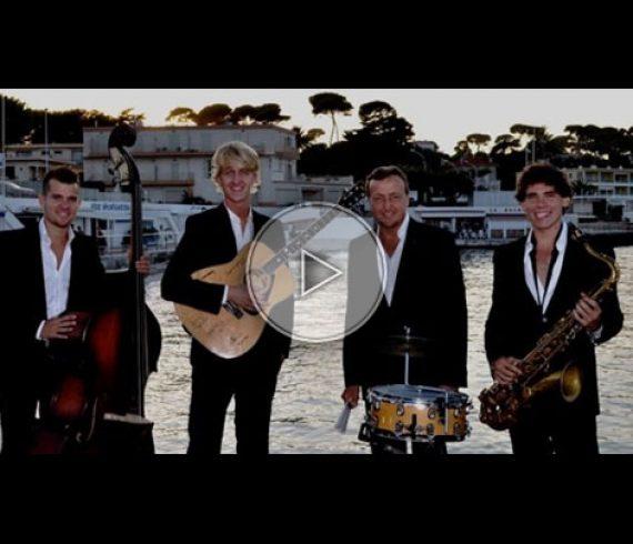 jazz band, french riviera, côte d'azur, swing band, quartet, quatuor, animation musicale