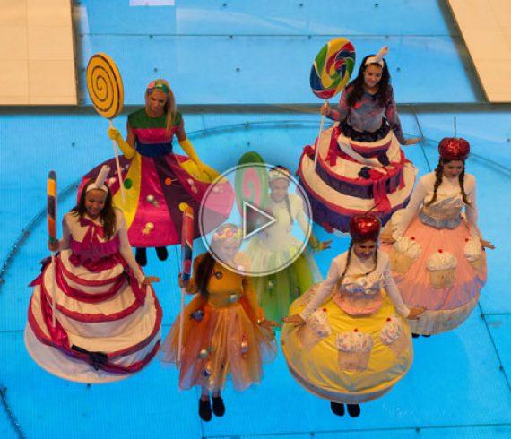 danseuses bonbon, bonbon, danseuses sucrées, danseuses, troupe de danse, animation enfant