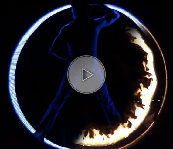 numéro de roue cyr, roue cyr de feu, roue cyr LED, roue en feu, roue en LED, lumière
