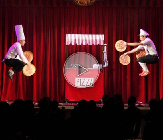 jongleurs de pizza, jongleurs comique, jonglage comique, jonglerie comique, pizza, italie
