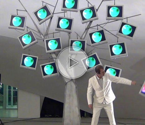 arbre digital, écran plat, artiste numérique, arbre, ipad, animation numérique