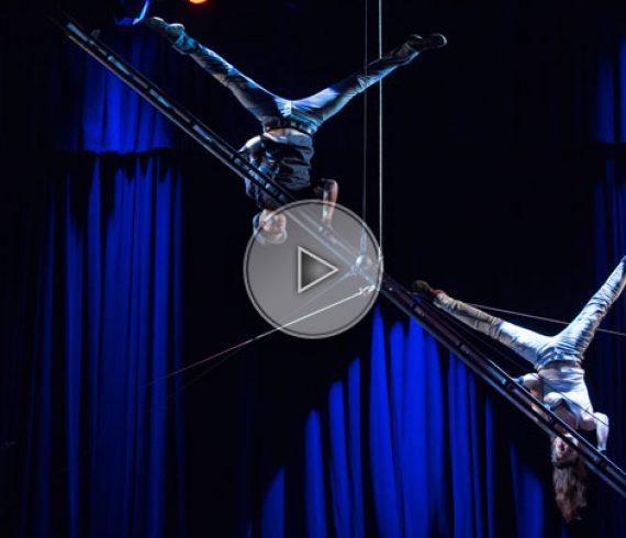 numéro d'échelle aérienne, numéro d'échelle, échelle aérienne, acrobatie sur échelle,