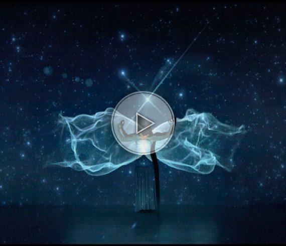 danseurs avec projection, projection vidéo avec danse, danse sur projection, danse et projections videos