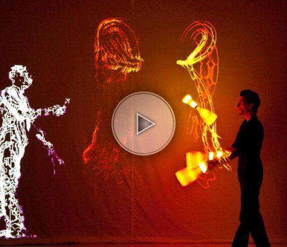 peintre jongleur, peintre lumière, jongleur et peintre, jongleur de lumière,