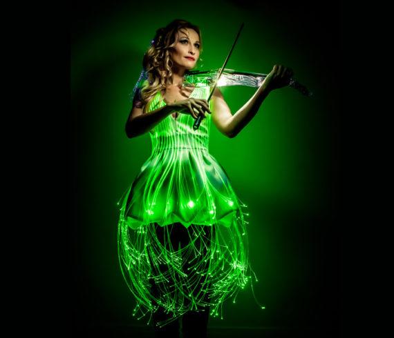 violoniste paris, violoniste lumineuse, violoniste france, violoniste laser, violoniste lumière,