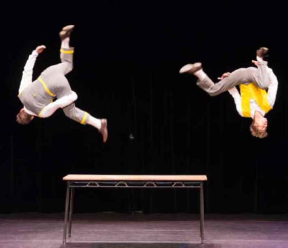 comic duo, comic acrobates, acrobates show, spectacle comique, spectacle famille