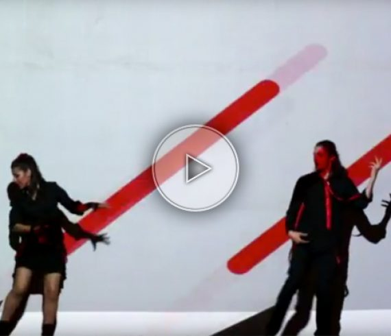 danse, danseurs, duo, video mapping, artistes, performers, show, video mapping danseurs
