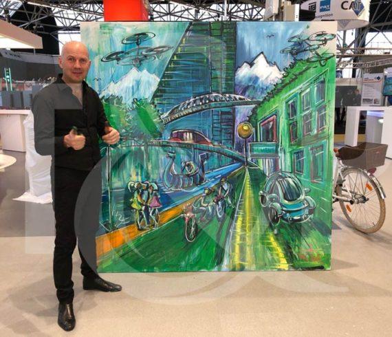 salon, animation salon, foire, congrès, pays-bas, amsterdam, green city, smart city, splash painting