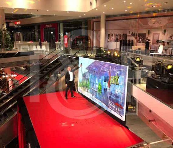 centre commercial, ouverture centre commercial, commerces, splash painting, autriche,