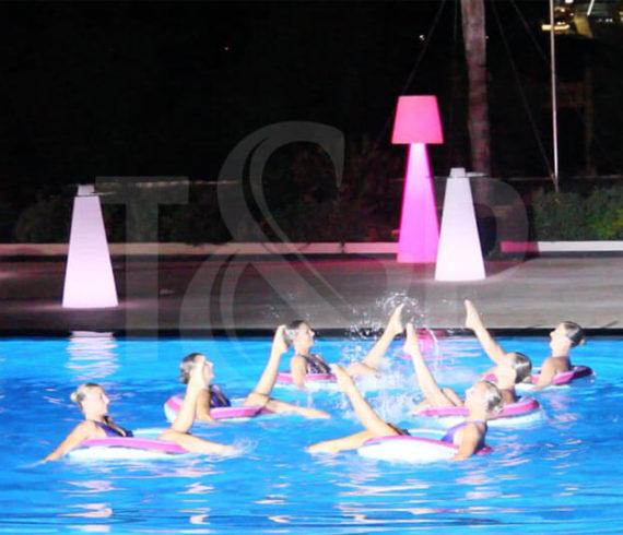 danseuses aquatiques, ballet aquatique, nageuses, nageuses synchronisées, monte-carlo, monaco, monte-carlo beach hotel, événement, événement corporate