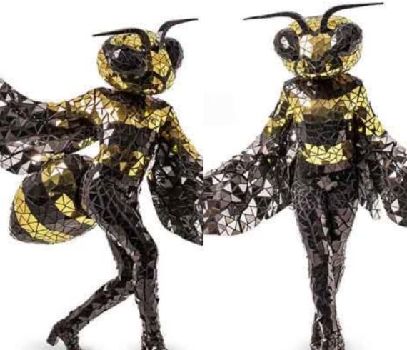 abeilles personnages, abeilles spectacle, abeilles artistes, abeilles miroir, personnages miroir